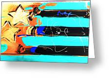 Max Stars And Stripes In Inverted Colors Greeting Card