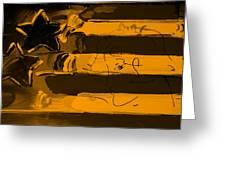 Max Stars And Stripes In Orange Greeting Card