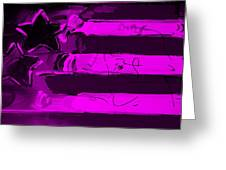 Max Stars And Stripes In Purple Greeting Card