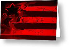 Max Stars And Stripes In Red Greeting Card