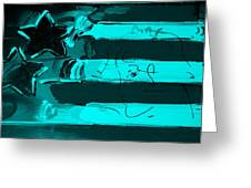 Max Stars And Stripes In Turquois Greeting Card