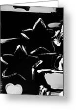 Max Two Stars In Black And White Greeting Card