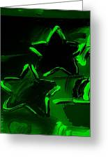 Max Two Stars In Green Greeting Card