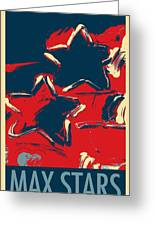 Max Two Stars In Hope Greeting Card
