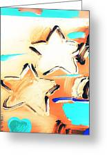 Max Two Stars In Inverted Colors Greeting Card
