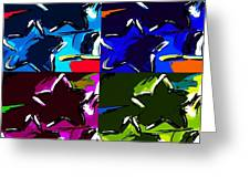 Max Two Stars In Pf Quad Colors Greeting Card