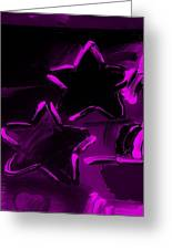 Max Two Stars In Purple Greeting Card