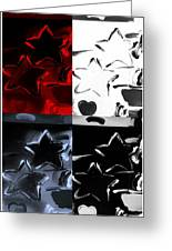 Max Two Stars In Quad Colors Greeting Card