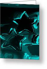 Max Two Stars In Turquois Greeting Card