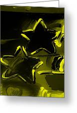 Max Two Stars In Yellow Greeting Card