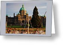 May Day In Victoria Greeting Card