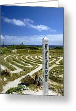 May Peace Prevail On Earth Peace Labyrinth Aruba Greeting Card