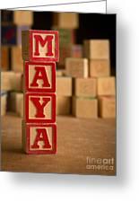 Maya - Alphabet Blocks Greeting Card