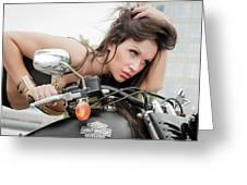 Maya And Harley Greeting Card