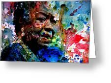 Maya Angelou Paint Splash Greeting Card
