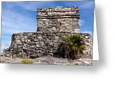 Mayan Building At Tulum Greeting Card