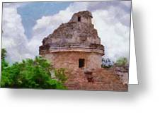 Mayan Observatory Greeting Card