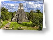 Mayan Temple At Tikal Greeting Card