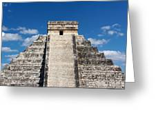 Mayan Temple Pyramid At Chichen Itza Greeting Card