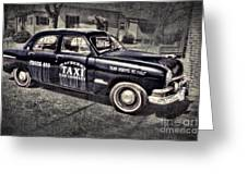Mayberry Taxi Greeting Card