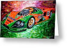 Mazda 787b.1991 Le Mans Winner. Greeting Card