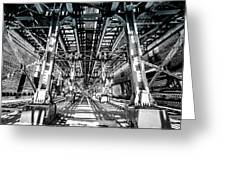 Maze Of Iron - Black And White Greeting Card