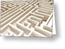 Maze Greeting Card