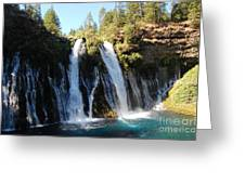 Mcarthur-burney Falls 1 Greeting Card