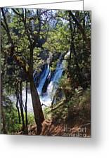 Mcarthur-burney Falls Side View Greeting Card