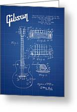 Mccarty Gibson Les Paul Guitar Patent Drawing From 1955 - Bluepr Greeting Card