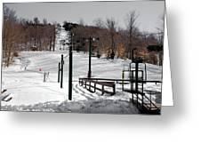 Mccauley Mountain Ski Area Vi- Old Forge New York Greeting Card