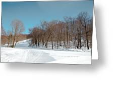 Mccauley Mountain Ski Area Vii- Old Forge New York Greeting Card