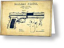Mcclean Pistol Drawing From 1903 - Vintage Greeting Card