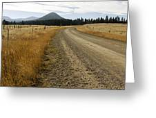 Mcclellan Creek Rd Helena Montana Greeting Card by Dana Moyer