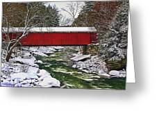 Mcconnells Covered Bridge Greeting Card