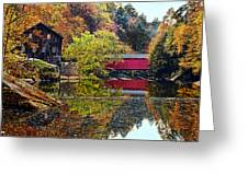 Mcconnell's Mill And Covered Bridge Greeting Card
