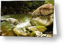 Mcconnells Mills Rocks 3 Greeting Card