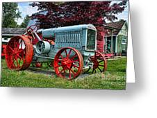Mccormick Deering Red-wheeled Tractor Greeting Card