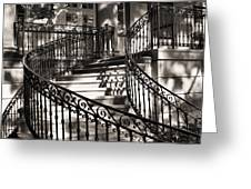 Mccormick Mansion Staircase Greeting Card