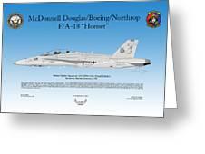 Mcdonnell Douglas Boeing Northrop Fa-18 Hornet Greeting Card