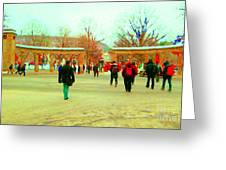 Mcgill Univ Students And Faculty College Campus Montreal Memories Collectible Art Prints C Spandau Greeting Card