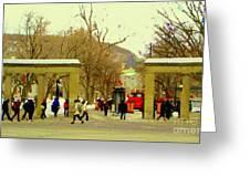 Mcgill University Roddick Gates Class Of 2013 Winter Semester Montreal Collectible Prints C Spandau Greeting Card