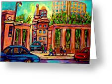 Mcgill University Roddick Gates Montreal Greeting Card