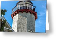 Mcgulpin Point Lighthouse Michigan Greeting Card
