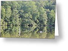 Mckamey Lake Calm Reflections Greeting Card