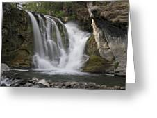 Mckay Crossing Falls In Eastern Oregon Greeting Card