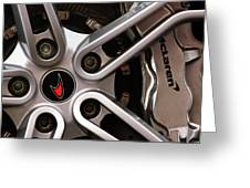 Mclaren Wheel Emblem Greeting Card