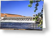 Mcnary  Hydroelectric Dam Greeting Card by Robert Bales