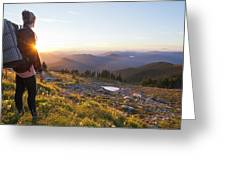 Mcneil Point Backpacker Greeting Card