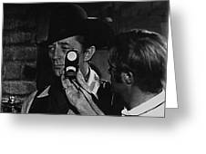 Mcq And Rooster Cogburn Homage Robert Mitchum And Harry Stradling Jr Greeting Card